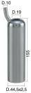 Mungitura – Impianto di mungitura – Mungitrice - 4208003 -CANN. 44,5X2,5X155 D.19 - Gruppi di mungitura - Cannelli