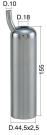 Mungitura – Impianto di mungitura – Mungitrice - 4208007 -CANN. 44,5X2,5X155 D.18 - Gruppi di mungitura - Cannelli