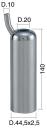 Mungitura – Impianto di mungitura – Mungitrice - 4208010 -CANN. 44,5X2,5X140 D.20 PESANTE - PER IPL02 - Gruppi di mungitura - Cannelli