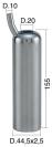 Mungitura – Impianto di mungitura – Mungitrice - 4208012 -CANN. 44,5X2,5X155 D.20 - Gruppi di mungitura - Cannelli