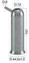 Mungitura – Impianto di mungitura – Mungitrice - 4208017 -CANN. 44,5X1,5X151 D.19 - Gruppi di mungitura - Cannelli