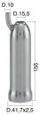 Mungitura – Impianto di mungitura – Mungitrice - 4208063 -CANN. 41,7X2,5X155 D.15,5 - Gruppi di mungitura - Cannelli