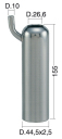 Mungitura – Impianto di mungitura – Mungitrice - 4208132 -CANN. 44,5X2,5X155 D.26,6 STD - Gruppi di mungitura - Cannelli