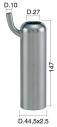 Mungitura – Impianto di mungitura – Mungitrice - 4208133 -CANN. 44,5X2,5X147 D.27 - Gruppi di mungitura - Cannelli