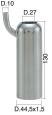 Mungitura – Impianto di mungitura – Mungitrice - 4208138 -CANN. 44,5X1,5X130 D.27 - Gruppi di mungitura - Cannelli