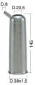 Mungitura – Impianto di mungitura – Mungitrice - 4208141 -CANN. 38X1,5X145 D.20,5 - Gruppi di mungitura - Cannelli