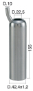 Mungitura – Impianto di mungitura – Mungitrice - 4208191 -CANN. 42,4X1,2X155 D.22,5 PER IPL11 - Gruppi di mungitura - Cannelli