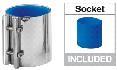 Mungitura – Impianto di mungitura – Mungitrice - 9001143 -RACCORDO 76,2 x 80 MM          BLUE - Linea latte - Manicotti